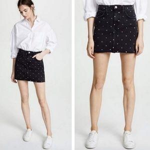 NEW Current Elliott Black Polka Dot Skirt